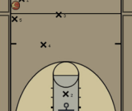 Diamond Press that uses the deep player to trap Diagram