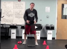 four cone agility drill for the weight room