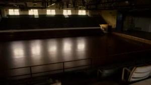 empty dark gym