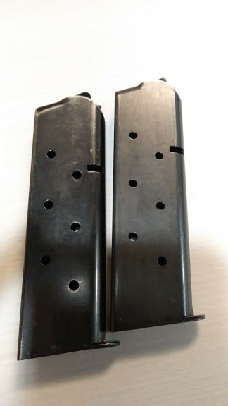 Pair of Chip McCormick 1911 magazines 45 acp 8rd -- mag #104