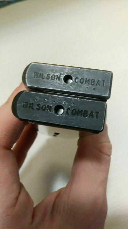 Pair of Wilson Combat 1911 magazines 45 acp 7rd, metal basepads-- mag #38