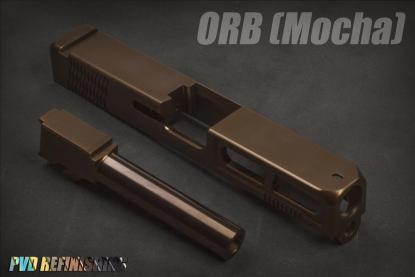 PVD Coated LWD Barrel M/19 9mm Threaded 1/2 x 28 ORB Mocha