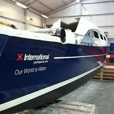 International Paints Boat Graphics
