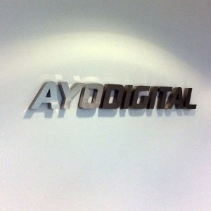 3d lettering signage