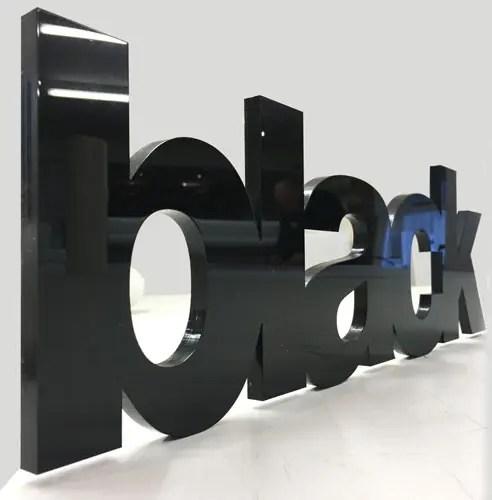 Black 3D acrylic letters
