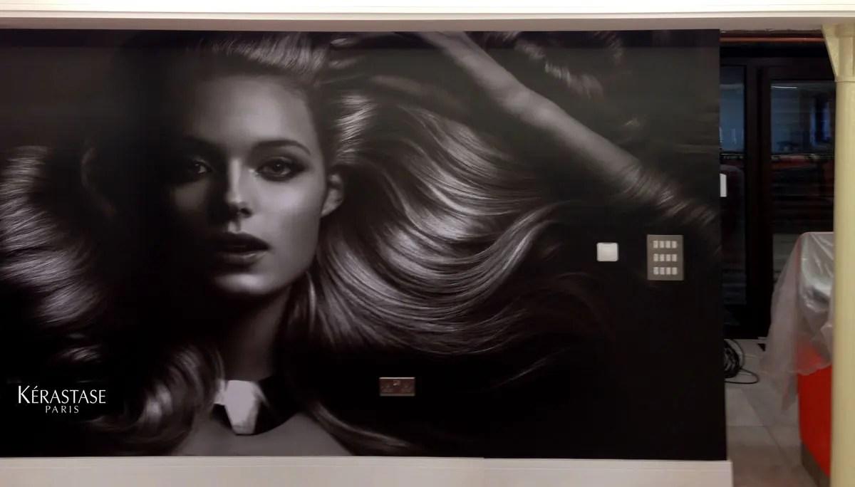 Full Wall Wrap graphics at hair salon