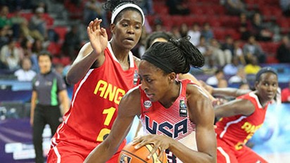 USA wraps up preliminary play with record-setting 119-44 rout of Angola