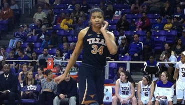 February 2, 2013 - Texas center Imani McGee-Stafford at TCU.
