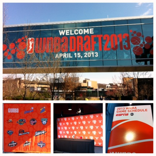 The 2013 WNBA Draft is at ESPN in Bristol, Conn. Photo: David Siegel.