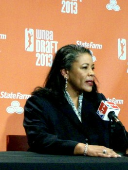 WNBA president Laurel Richie at the 2013 WNBA draft.