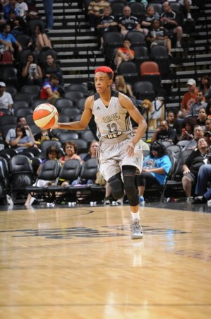 Danielle Robinson. Photo: San Antonio Stars/D. Clarke Evans.