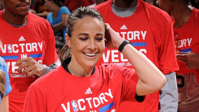 Becky Hammon coaches San Antonio Spurs to championship in the Las Vegas Summer League