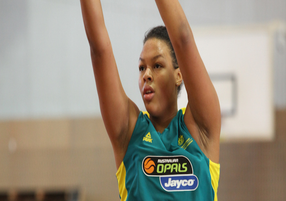 Liz Cambage.Photo: Basketball Australia.