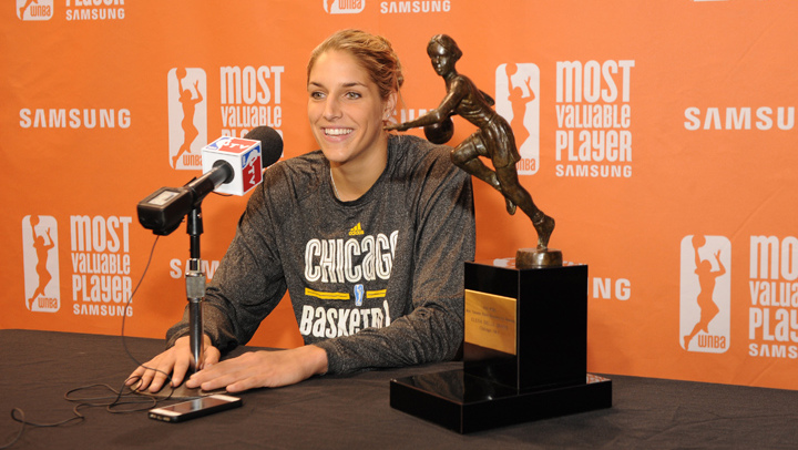 """Elena Delle Donne discusses receiving the MVP award, an """"humbling experience"""""""