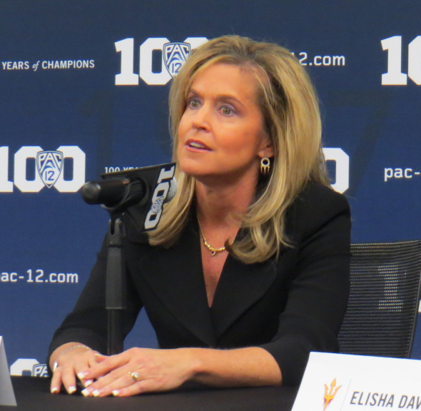 Oct. 14, 2015 (SAN FRANCISCO) Arizona State head coach Charli Turner Thorne at Pac-12 Media Day.
