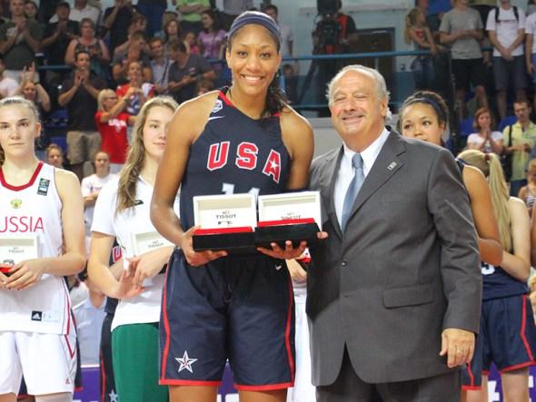 A'ja Wilson. Photo: USA Basketball.