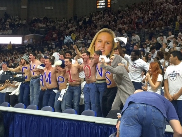 UConn fans.
