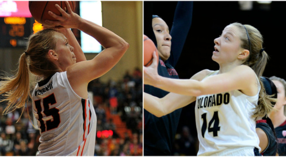 Jamie Weisner, Kennedy Leonard. Photos: Oregon State Athletics / Colorado Athletics.