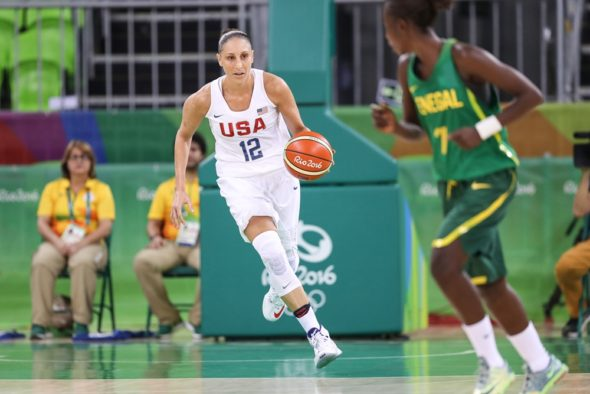 August 7, 2016. Diana Taurasi, USA vs. Senegal. Photo: FIBA.