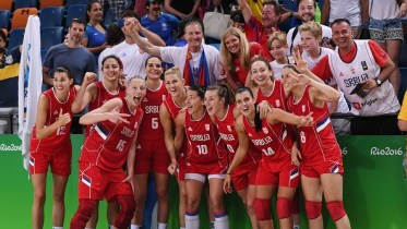August 20, 2016 (Rio de Janeior) - Serbia after winning the bronze medal vs. France. Photo: FIBA.