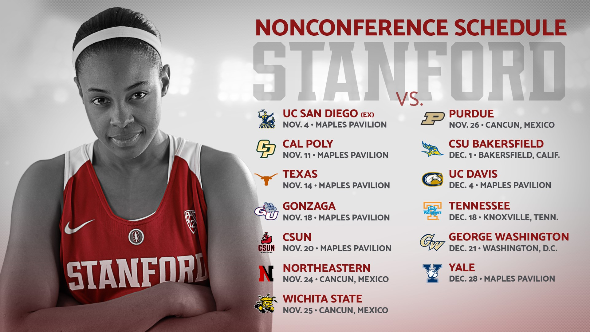 Stanford's 2016-17 non-conference schedule features Texas, Gonzaga, Tenn., GWU and a sister vs. sister exhibition