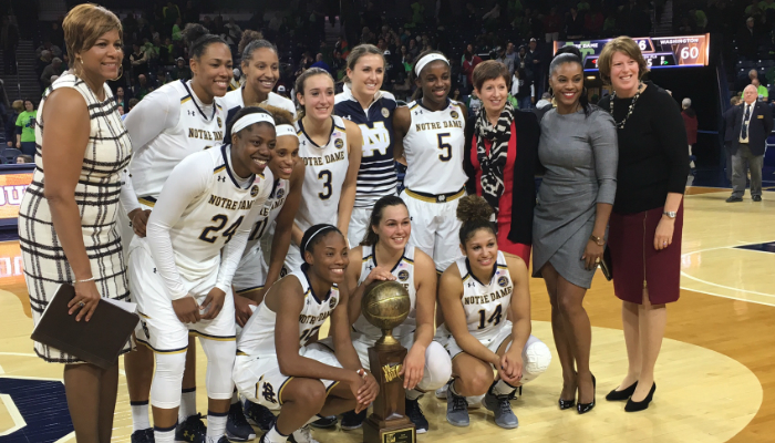 Notre Dame tops first-ever Hoopfeed NCAA Division I women's basketball poll