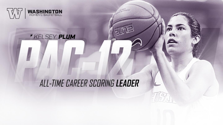 Washington's Kelsey Plum breaks All-time Pac-12 scoring record