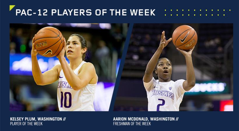 Washington sweeps Pac-12 Player of the Week Awards