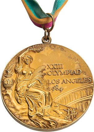 Teresa Edwards' Gold Media for the 1984 Summer Olympics in Los Angeles. Image: Lelands.