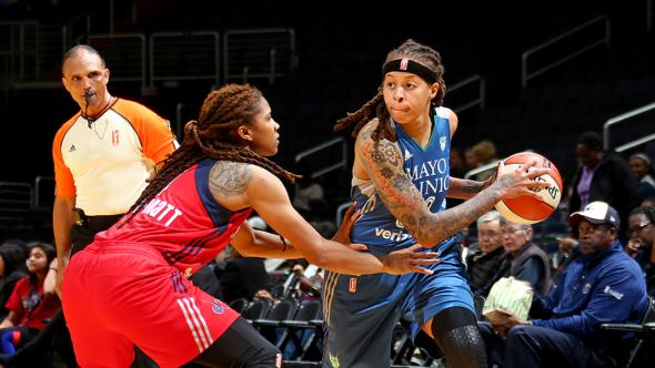 Minnesota Lynx at Washington Mystics. Photo: Ned Dishman/NBAE/Getty Images.