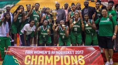 2017 - Nigeria claimed their third FIBA Women's Afrobasket title. Photo: FIBA.
