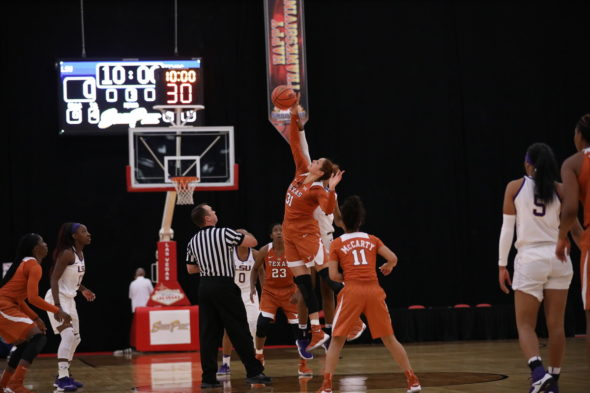 No. 4 Texas defeated LSU and Washington at the South Point Shootout in Las Vegas.