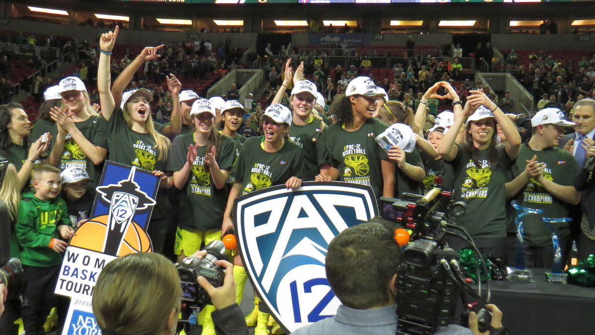 Social media recap: Oregon beats Stanford 77-57 in Pac-12 tourney title game, a first for the Ducks
