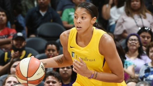 LOS ANGELES (June 3, 2018) - Candace Parker. Photo: NBAE/Getty Images.