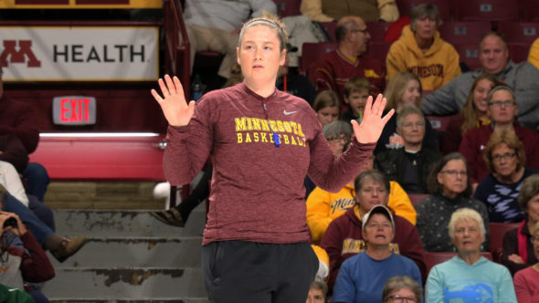 Minnesota Gophers head coach Lindsay Whalen. Photo: Minnesota Athletics.