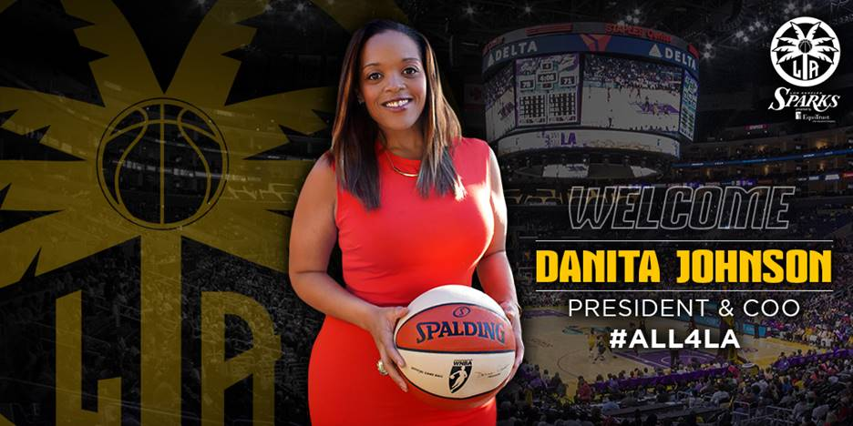 Los Angeles Sparks hire Danita Johnson as president and  COO