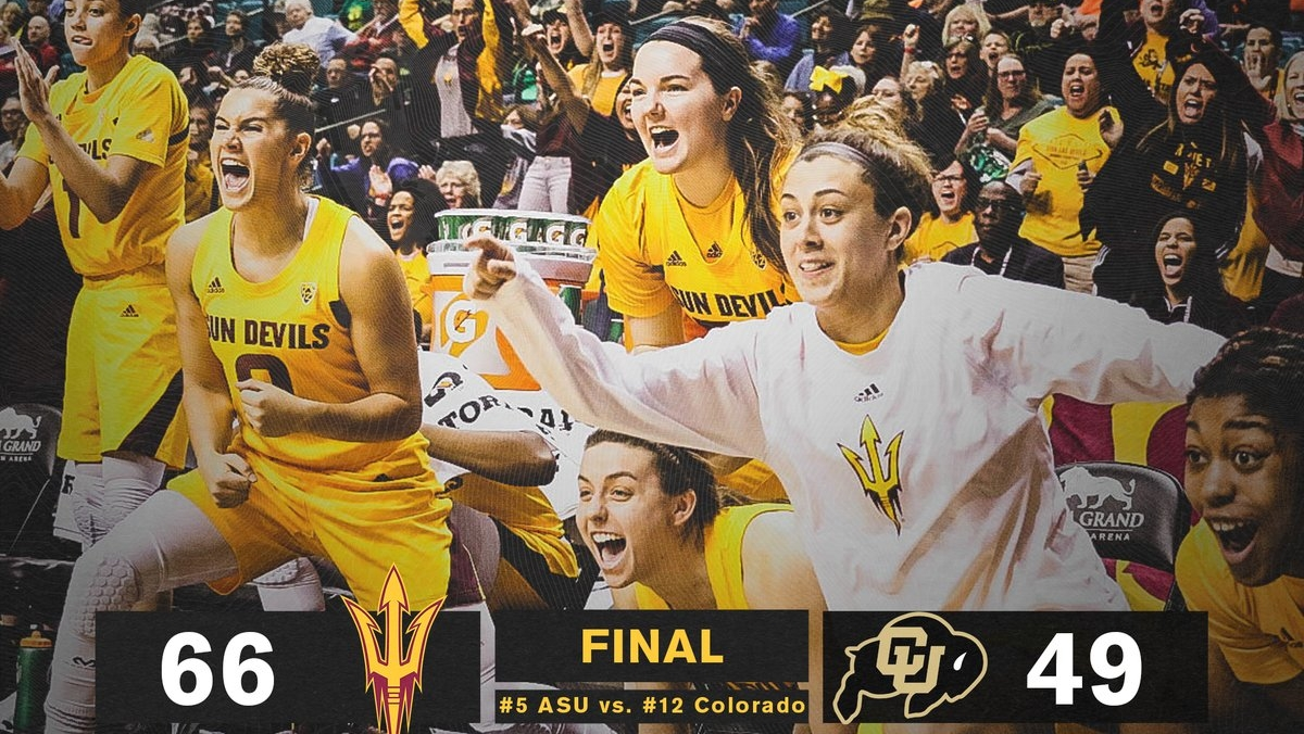 Arizona State holds off third-quarter onslaught to beat Colorado in Pac-12 first round, 66-49
