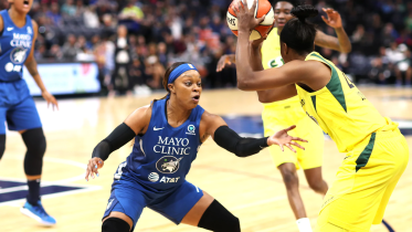 May 29, 2019 - Lynx guard Odyssey Sims. Photo: NBAE/Getty Images.