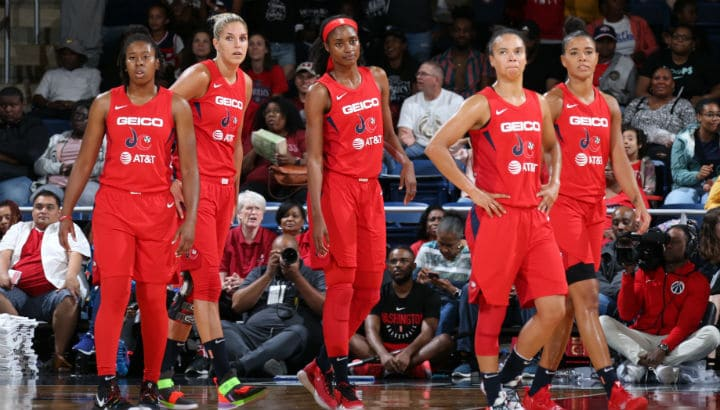 """Washington's """"bench mob"""" lifts Mystics in 86-62 win over Dallas Wings, Hawkins leads with career-high 21"""