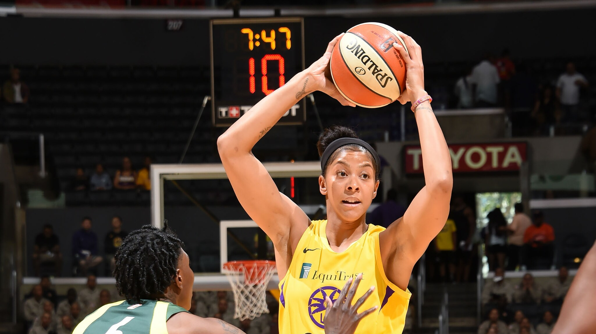 Candace Parker leads Los Angeles Sparks to 83-75 triumph over Seattle Storm