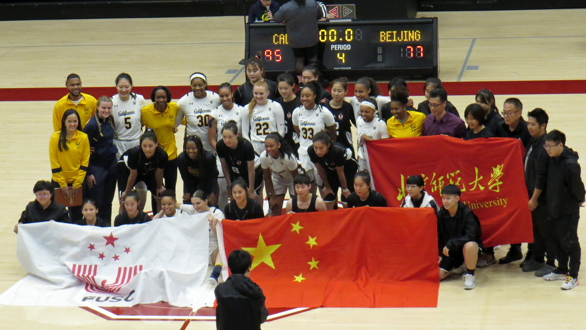 Cal freshmen lead in 95-77 exhibition win over Beijing Normal, Lutje Schipholt earns a double-double