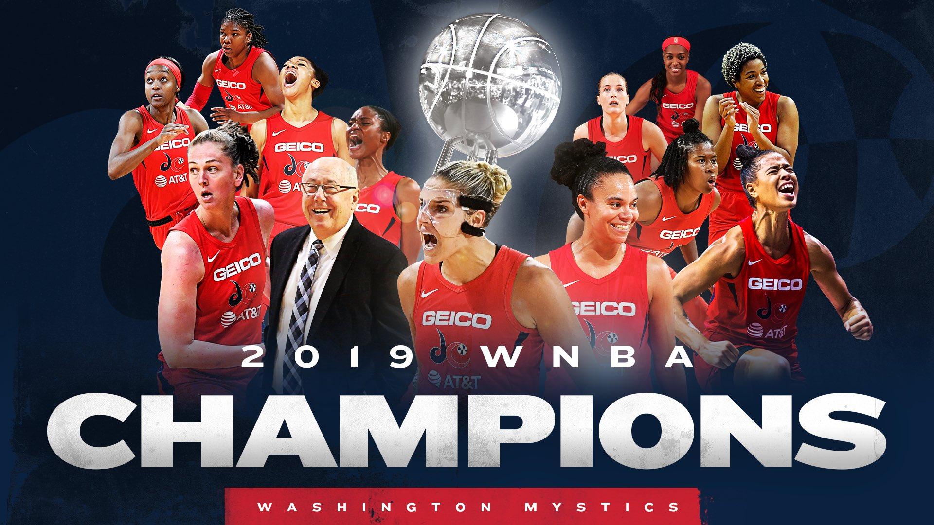 Washington Mystics win their first-ever WNBA championship, top the Connecticut Sun 89-78