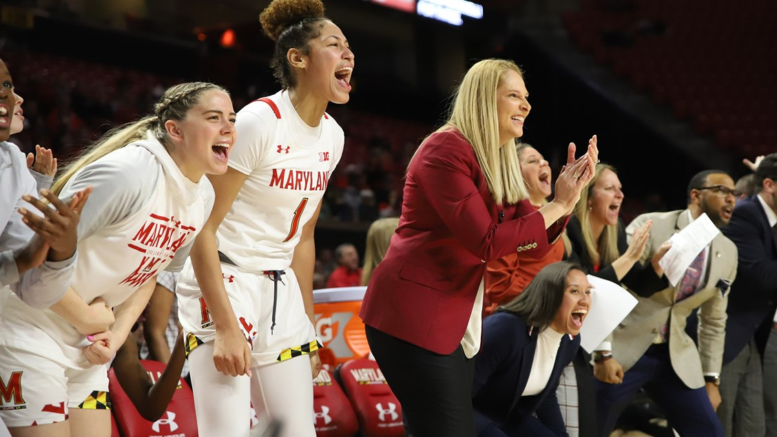 Maryland makes quick work of Iowa, 93-59, takes sole possession of first place in Big Ten