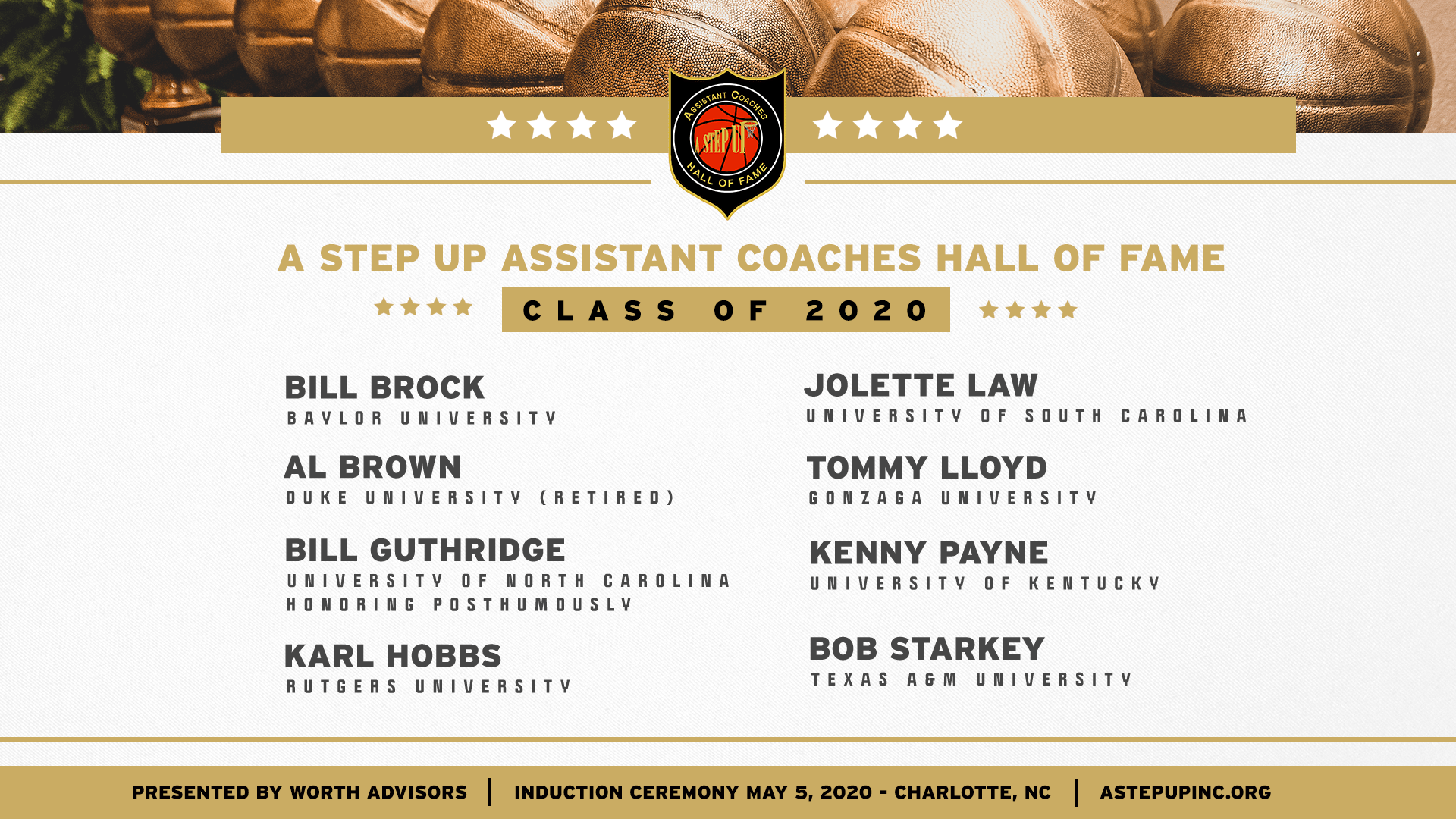 A STEP UP announces the Assistant Coaches Hall of Fame Class of 2020