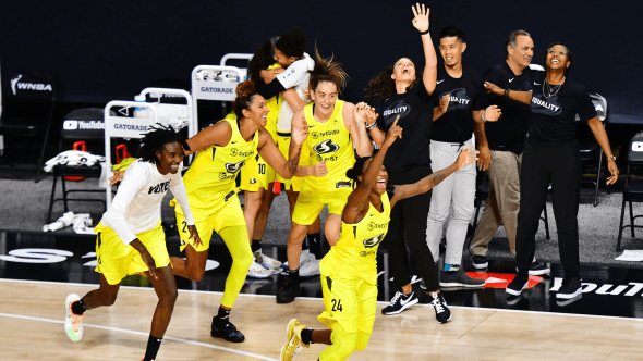 Oct. 6, 2020 - Seattle Storm. Photo: NBAE/Getty Images.
