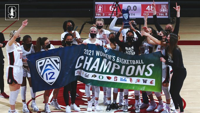 No. 4 Stanford tops No. 9 Arizona 62-48, wins first Pac-12 regular-season title in seven years