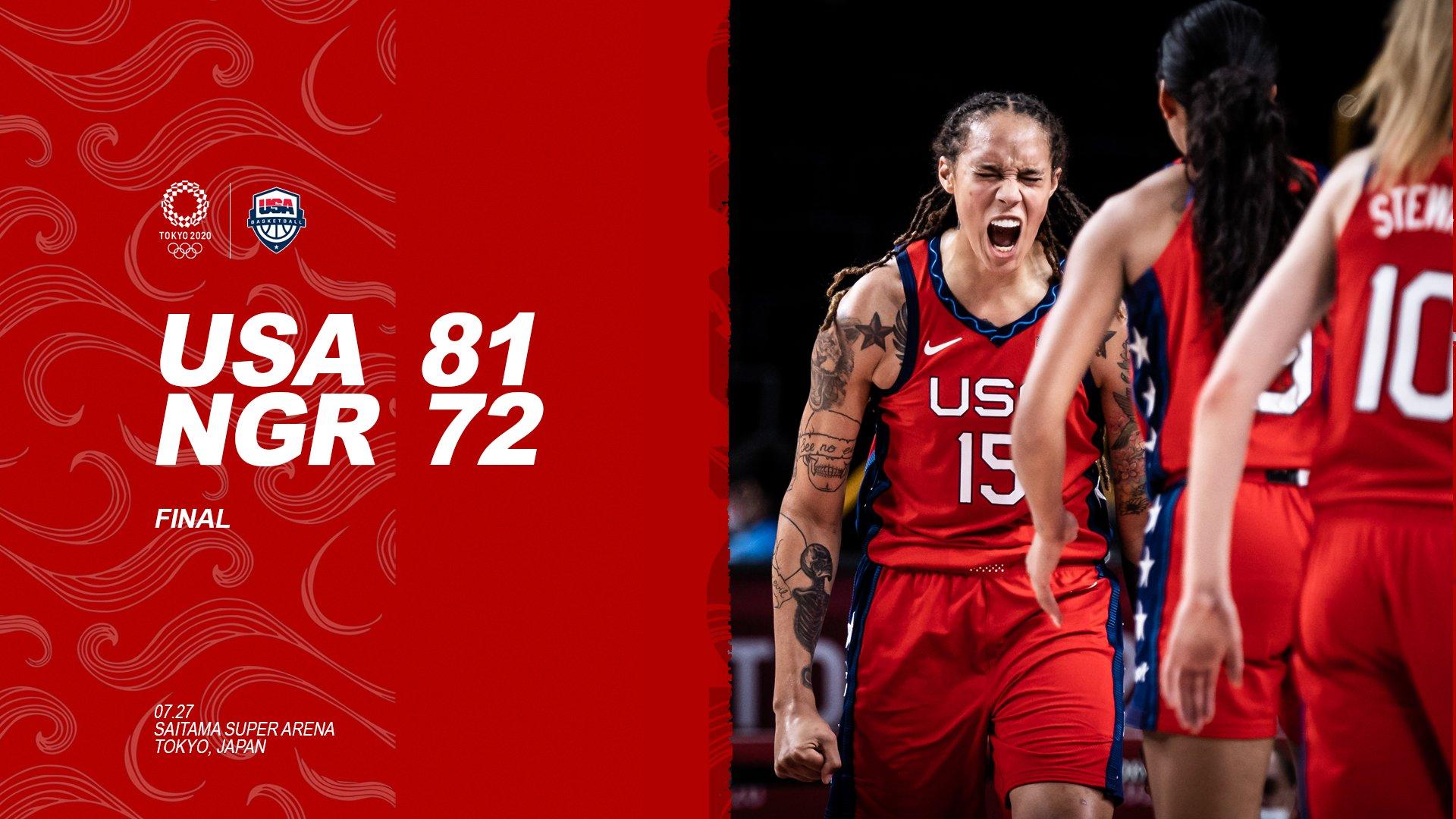 A'ja Wilson leads the U.S. over Nigeria 81-72 in Olympics opener, Sue Bird hits assist mark