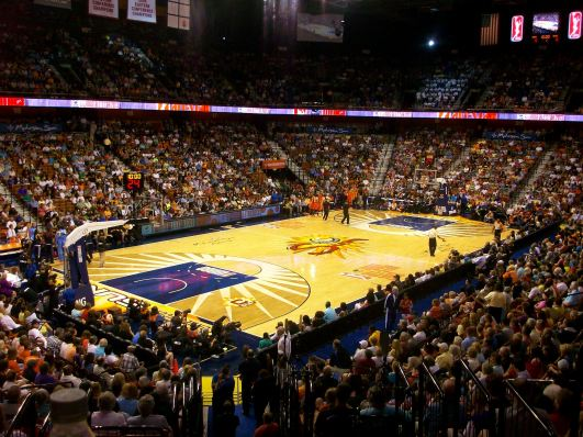 UNCASVILLE, CT (July 27, 2013) - Mohegan Sun Arena, site of the 2013 WNBA All-Star game.