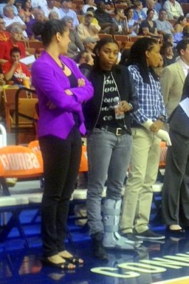 UNCASVILLE, Conn. (June 23, 2013) - The injury-riddled Connecticut Sun: Kara Lawson, Renee Montgomery, Tan White.