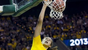 WACO, Texas (March 26, 2013) - Brittney Griner dunks vs. Florida State in the second round of the NCAA tournament. Photo © Robert Franklin, all rights reserved.